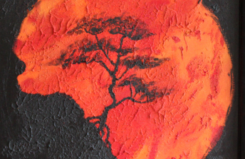 Tree in the Red Sun RF A
